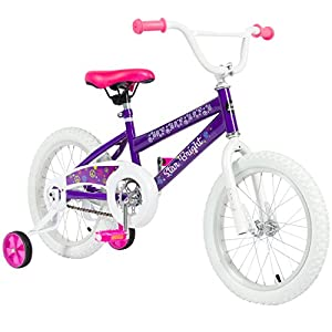 "BCP 16"" Girl's Purple Princess Bike W/ Training Wheels & Basket Kid's Bicycles"