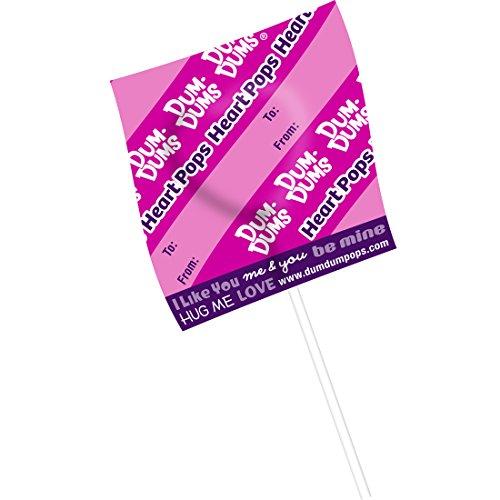 Lollipops Day Valentines (Dum Dums Heart Lollipops - Prizes and Giveaways - 30 per Pack)