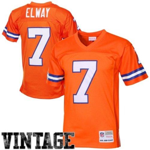 - Mitchell & Ness John Elway Denver Broncos Orange Throwback Jersey X-Large