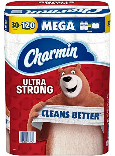 Charmin Ultra Strong Toilet Paper 30 Mega Roll (286 sheets in line with roll)