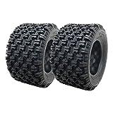 SET OF TWO: ATV Tubeless Type Front Tire 20x11-10 fits many ATVs by Kawasaki, Polaris, Suzuki, Yamaha – P314