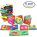 Here Fashion Baby Non-Toxic Soft Cloth Book Set Intelligence Development Cloth Book Toys - Pack of 6 by Here Fashion that we recomend personally.