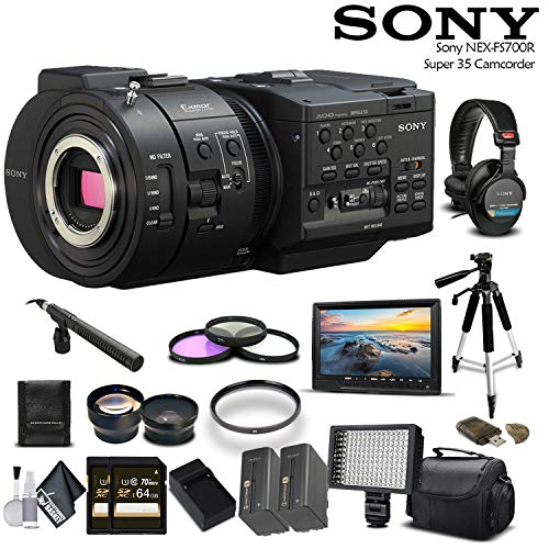 Sony NEX-FS700R Super 35 Camcorder  with 2-64GB Cards, 2 Ext