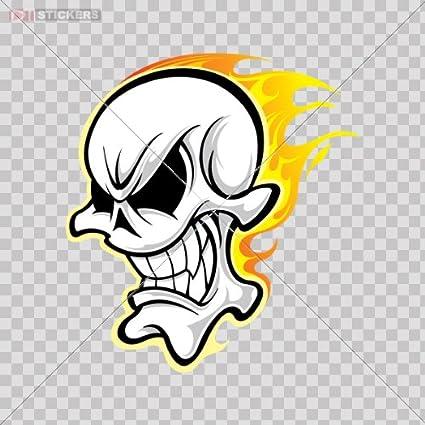 Amazoncom Decal Skull Skulls Flame Flames Fire L Color Print 4 X
