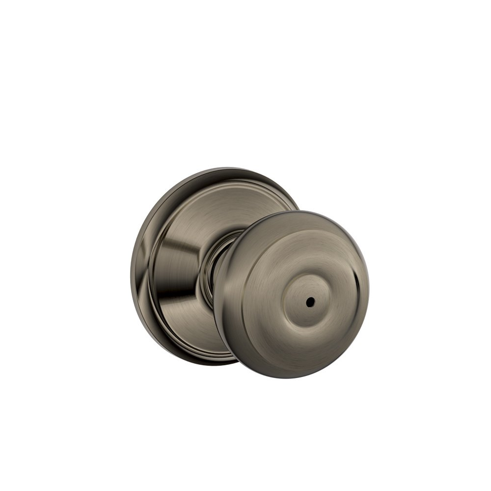 Schlage F40GEO622 Georgian Privacy Knob, Matte Black