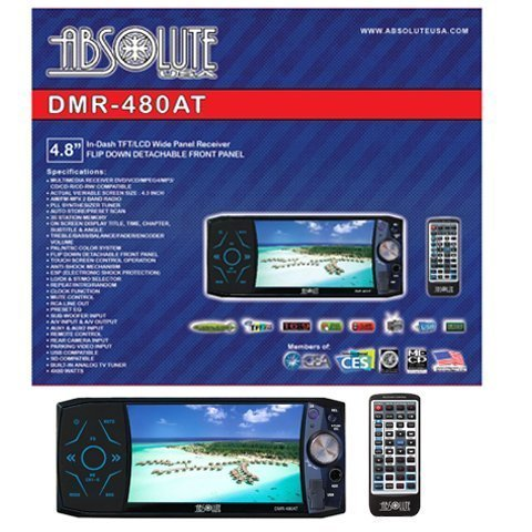 Absolute DMR-480AT 4.8-Inch In-Dash Multimedia Touch Screen System with Bluetooth, Analog TV Tuner and USB/SD Slot