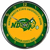 WinCraft NCAA North Dakota State Bison Chrome Clock