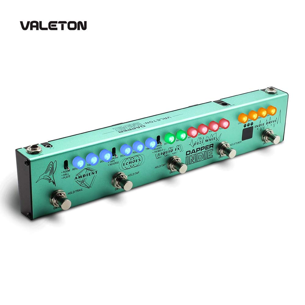 Valeton Multi Effects Guitar Pedal Dapper Indie of Distortion Reverb Delay Chorus Fuzz And Phaser Tremolo for Indie Ambient Psychedelic Grunge Post Rock Stoner Metal Retro Alternative Tone by Valeton