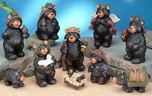 StealStreet SS-UG-PY-3000 Black Bear Religious Nativity Scene Figurine Statue Decor