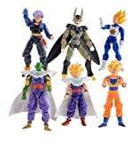 6 pcs Set New Dragonball Z Dragon Ball DBZ Anime 15cm Goku Vegeta Piccolo Gohan super saiyan Joint Movable Action Figure Toy 6 pcs Set