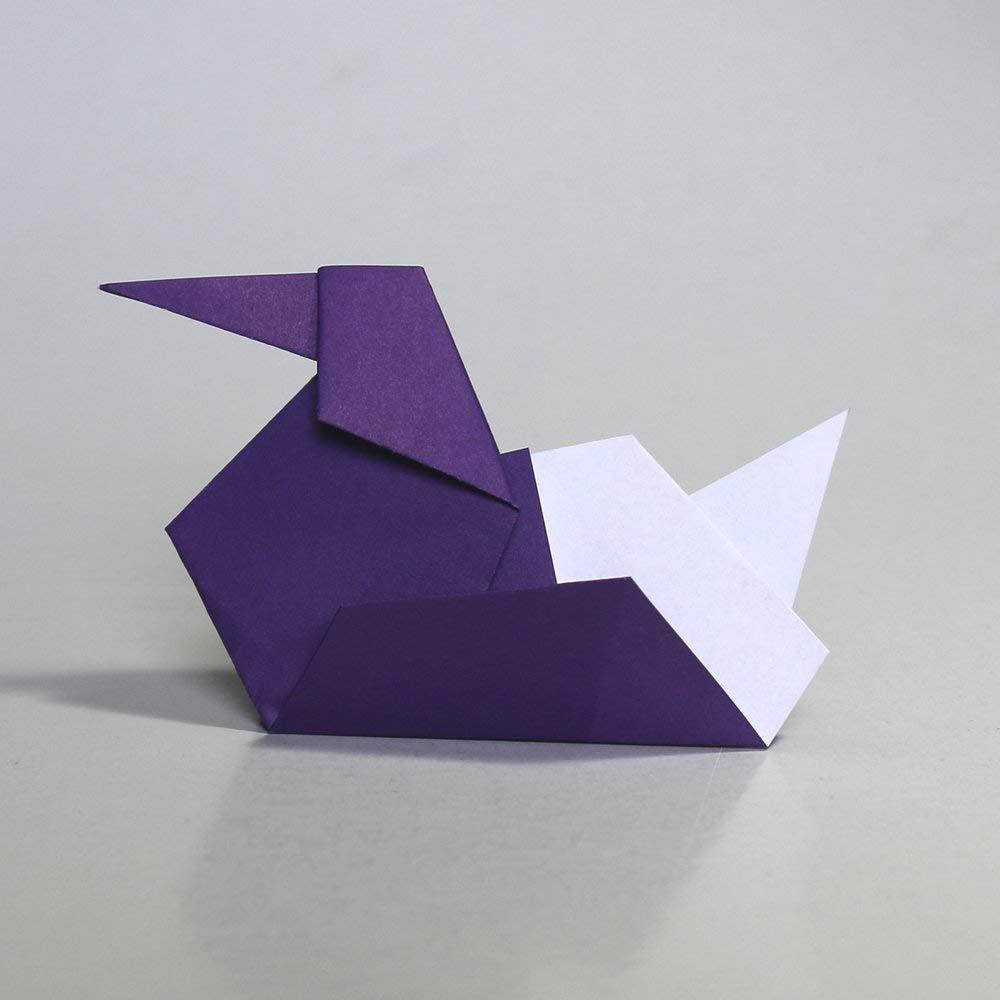 Folded Square Origami Conjunto de regalo de 100 hojas de papel para papiroflexia - Pantone Violeta 2607: Amazon.es: Juguetes y juegos