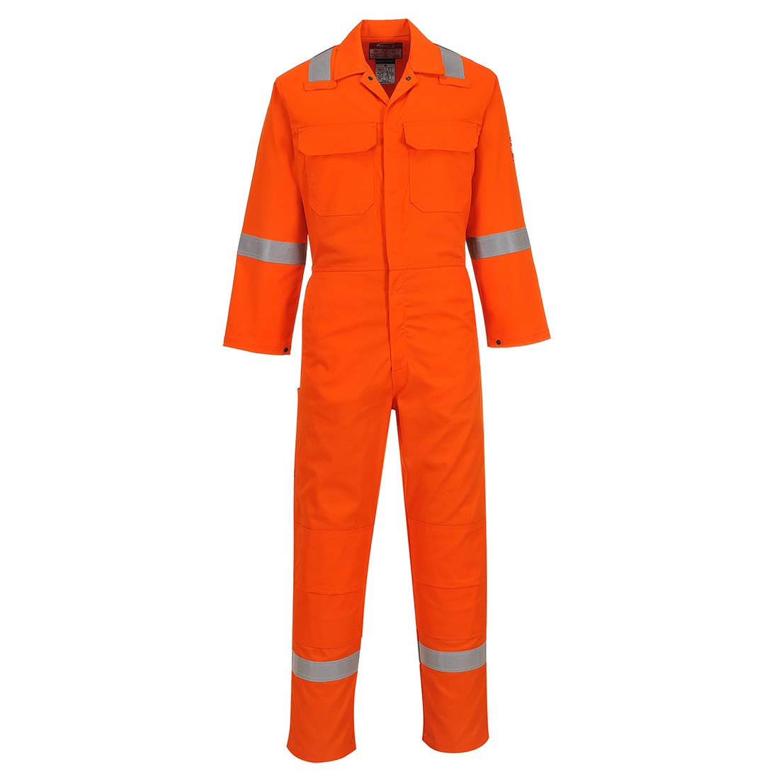 Portwest UBIZ5ORRXXXL Regular Fit Bizweld Iona Coverall, 3X-Large, Orange