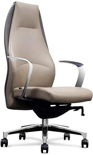 Wrigley Genuine Leather Aluminum Base High Back Executive Chair