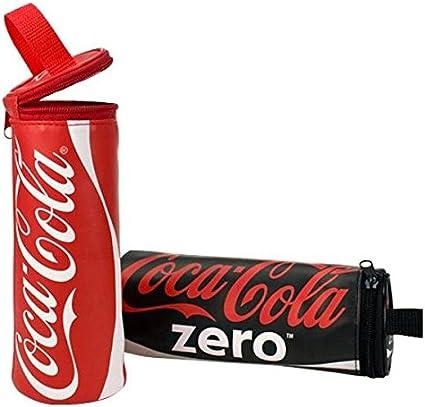 Coca Cola estuche 2 colores: Amazon.es: Oficina y papelería