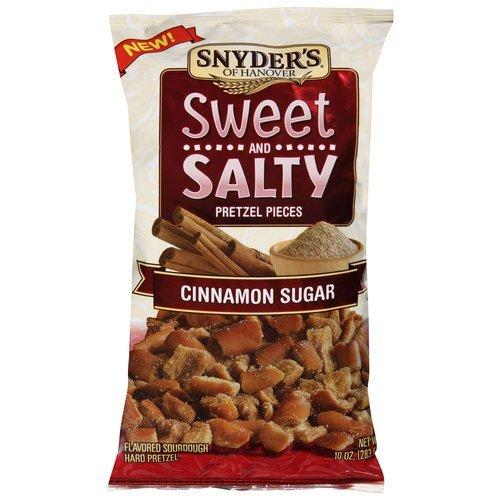 alty Pretzel Pieces 10oz Bag (Pack of 3) Select Flavor Below (Cinnamon Sugar) (Salty Pretzel)