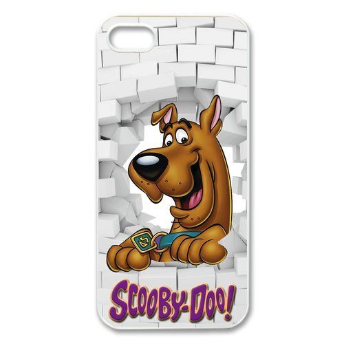 iPhone 5S Custodia, iPhone 5S Case, Apple iPhone 5/iPhone 5S Case Custodia Cover Case di Scooby Doo Mobile Phone Case Back Cover Custodia per iPhone 5/5S