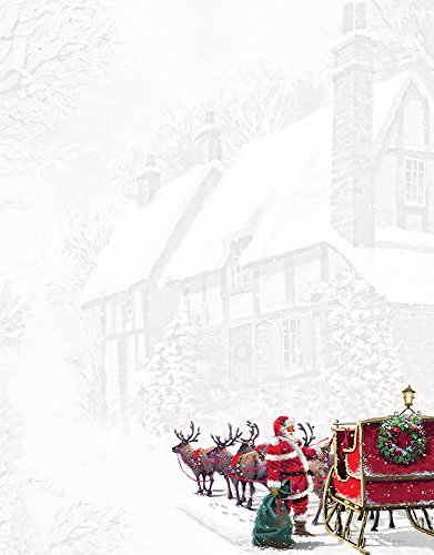"Great Papers! Santa's Sleigh Letterhead, 80 count, 11"" x 8.5"" (2015064)"