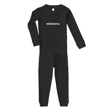 Senorita Cotton Long Sleeve Crewneck Unisex Infant Sleepwear Pajama 2 Pcs Set Top and Pant -