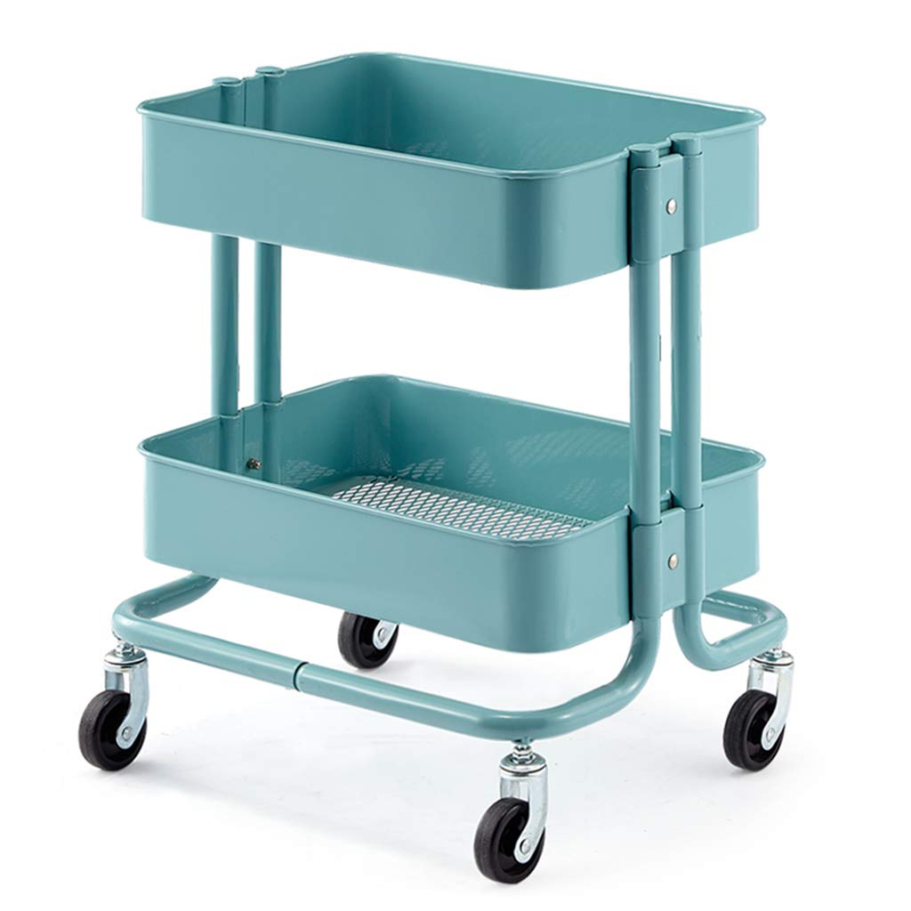 A Barber Shop Trolley Hair Salon Dedicated Rack Trolley Trolley Barber Shop Tool Cart (color   C)