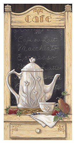 Global Gallery Janet Kruskamp Coffee 'N Fruit I-Giclee on Paper Print-Unframed-36 x 18 in Image Size, 36