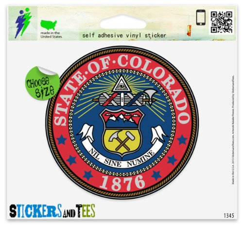 Colorado State Seal Vinyl Car Bumper Window Sticker 2