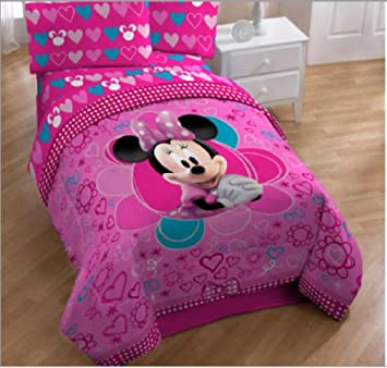 Minnie Mouse Ensemble De Literie Lit Simple 4 En 1 Set Couette