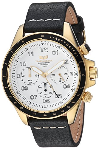 Vestal ZR2 Leather Stainless Steel Japanese-Quartz Watch with Strap, Black, 20 (Model: ZR243L28.BKWH)