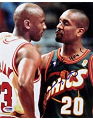 Gary Payton Signed F*CK YOU Michael Jordan 8x10 Photo PSA/DNA COA Auto Sonics