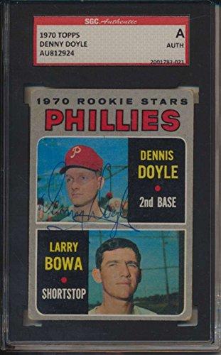 1970 Topps #539 Denny Doyle Autographed RC SGC A Authentic Autograph - Novelty Denny