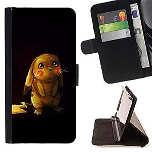 For Sony Xperia Z1 Compact D5503 - Cute Pikochu Animal /Funda de piel cubierta de la carpeta Foilo con cierre magn???¡¯????tico/ - Super Marley Shop -