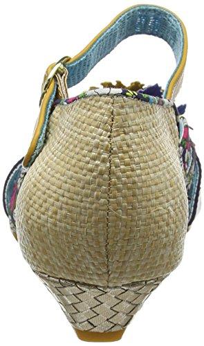 Licenza Poetica Per Scelta Irregolare Damen Loula Peeptoe Sandali Multicolore (multicolore (multi Naturale))
