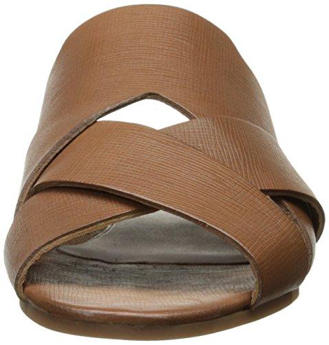 Hudson Women's Lonatu Calf Open Back Slippers, White Brown (Tan)