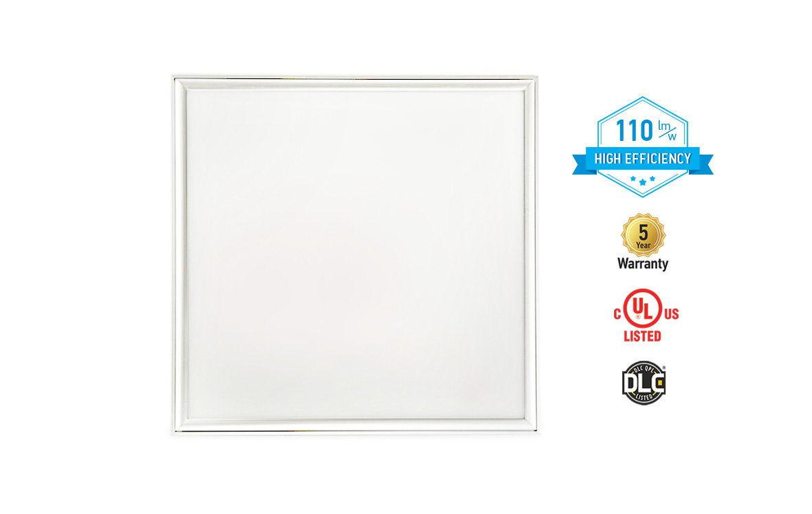 4-PACK ASD LED Panel 2x2 Dimmable Edge-Lit Flat 22w 5000k High Efficiency Series