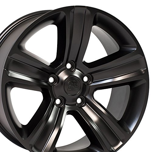 OE Wheels 20 Inch Fits Chrysler Aspen Dodge Dakota Durango Ram 1500 Night Edition Style DG65 Satin Black 20x9 Rim Hollander ()