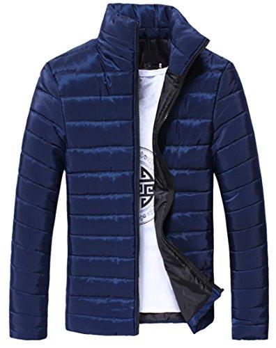 blue Winter Coat Cotton Navy Packable Jacket Mens Fulok Puffer Light Down Parka Warm I67Uvwn0q
