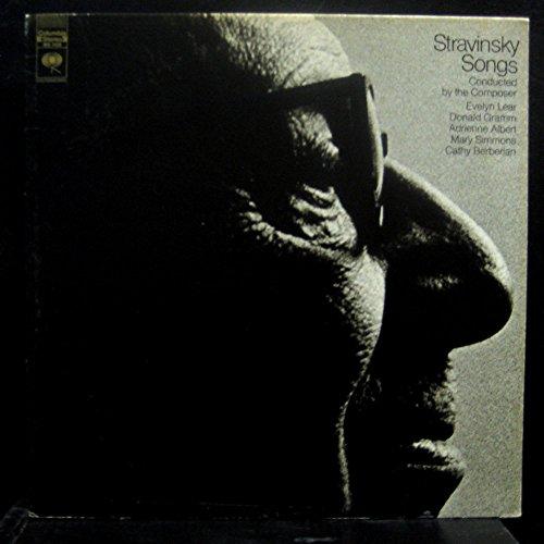 (STRAVINSKY & ROBERT CRAFT STRAVINSKY SONGS vinyl record)