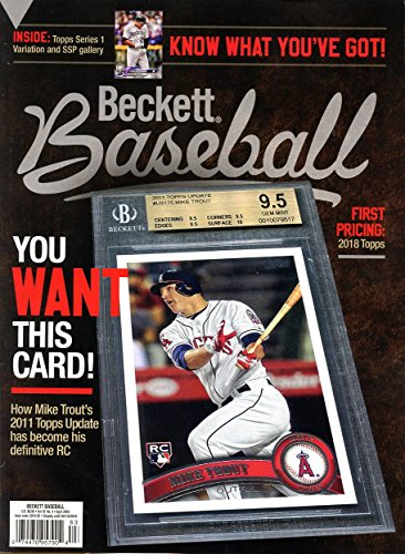 Beckett Baseball Card Monthly Price Guide Value Magazine April 2018 Mike Trout