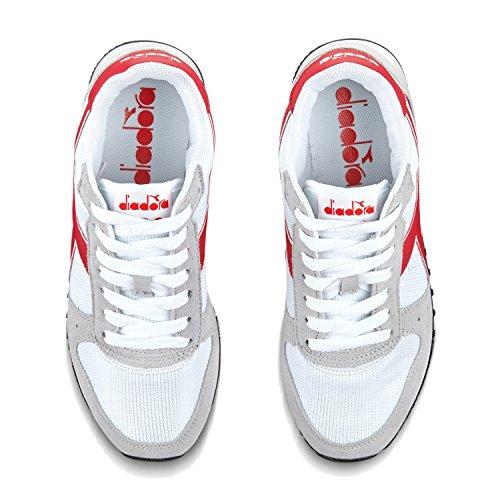 rosso Basso a Sneaker Flame Donna Malone C6470 Collo W Diadora Bianco zq1Hw