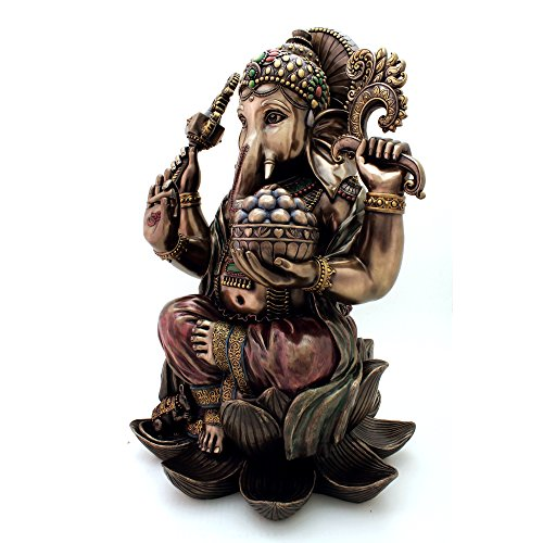 Top Collection 25'' Large Ganesha Statue in Real Bronze Powder Cast - Hindu Sri Ganesh Elephant Lord of Success Museum Sculpture by Top Collection (Image #1)