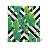 Reusable Leather Book Cover Tropical Palm Leaves Durable School Book Protector Fits up to 9x11 inch