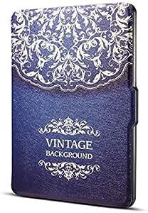 غطاء جلد بولي يوريثان أنعم وأخف وزنًا للنوم/الاستيقاظ التلقائي لجميع أنواع Amazon Kindle Paperwhite (يناسب جميع الإصدارات