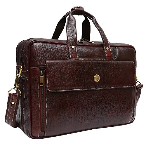 Hammonds Flycatcher Pure Genuine Leather 15.6 inch Brown Office Bag