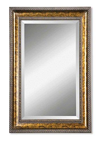 Intelligent Design Extra Large Bronze Frame Wall Mirror | Classic - Masculine Mirrors Bathroom