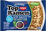 Nissin Top Ramen Soy Sauce, 3 Ounce (Pack of 12)