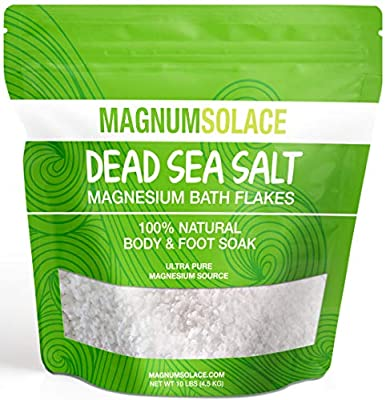 Magnesium Bath Flakes, Large 10 LBS Exceptional #1 Therapeutic Source for Body & Foot Soaks