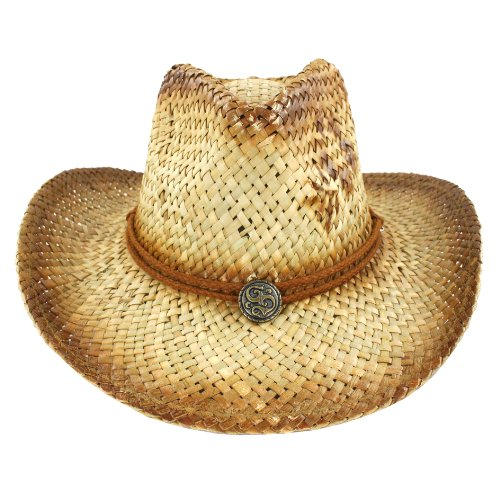 Buy faddism stylish summer straw hat in brown design