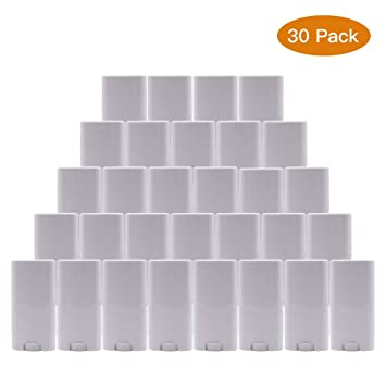 15ml Plastic Deodorant Containers 0 5 Oz New Empty Oval Lip Balm  Tubes,White,30 Pack