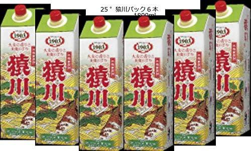 猿川(25゜) 1800mlパック 麦焼酎/6本
