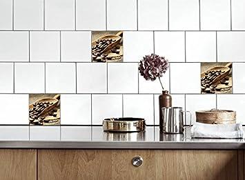 Küche Fliesen Aufkleber Kaffeebohnen Vinyl Film für ...
