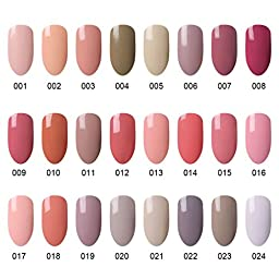 CLAVUZ 6pcs Gel Nail Polish Set Soak Off UV Led Nail Varnish New Start Set Color Collections Lacquers Manicure Nail Art Kits Gift Sets